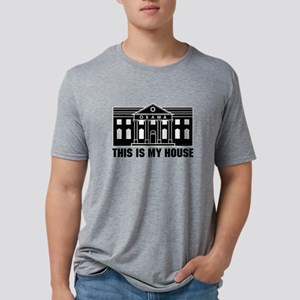 ObamaHouseBig1_mhBlk Mens Tri-blend T-Shirt