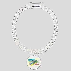 Savannah Beach Georgia Charm Bracelet, One Charm