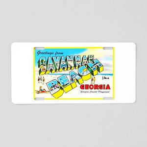 Savannah Beach Georgia Aluminum License Plate