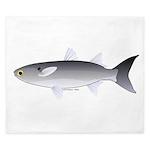 Black Mullet fish King Duvet