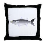 Black Mullet fish Throw Pillow