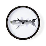 Black Mullet fish Wall Clock