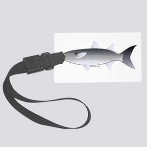 Black Mullet fish Large Luggage Tag
