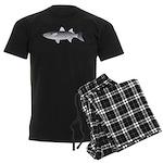Black Mullet fish Men's Dark Pajamas