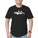 Black Mullet fish Men's Fitted T-Shirt (dark)