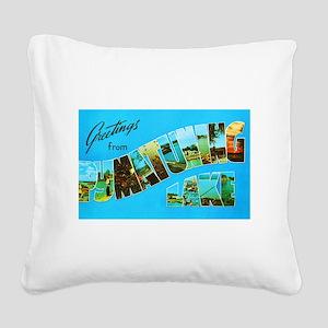 Pymatuning Lake Pennsylvania Square Canvas Pillow