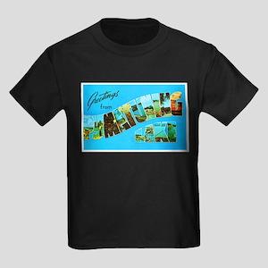 Pymatuning Lake Pennsylvania Kids Dark T-Shirt