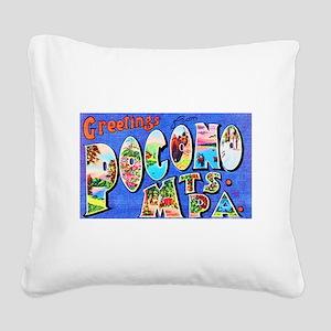 Pocono Mts. Pennsylvania Square Canvas Pillow