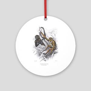 Gibbon Ape Monkey Ornament (Round)