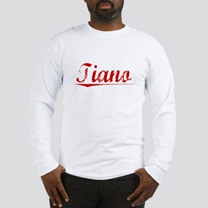 Tiano, Vintage Red Long Sleeve T-Shirt