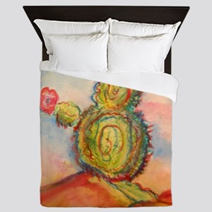Cactus! Desert southwest art! Queen Duvet
