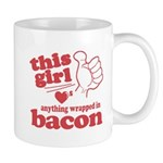 Girl Hearts Bacon Mug