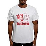 Girl Hearts Bacon Light T-Shirt