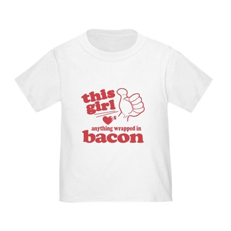 Girl Hearts Bacon Toddler T-Shirt