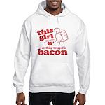 Girl Hearts Bacon Hooded Sweatshirt