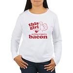Girl Hearts Bacon Women's Long Sleeve T-Shirt