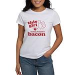 Girl Hearts Bacon Women's T-Shirt