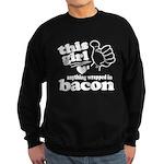 Girl Hearts Bacon Sweatshirt (dark)