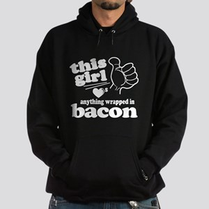 Girl Hearts Bacon Hoodie (dark)