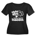 Girl Hearts Bacon Women's Plus Size Scoop Neck Dar