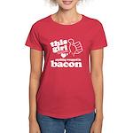 Girl Hearts Bacon Women's Dark T-Shirt