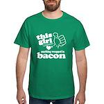 Girl Hearts Bacon Dark T-Shirt
