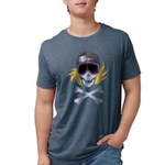 Snowboarder Skully Mens Tri-blend T-Shirt