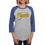 IRON_CITY_FAN_onwht Womens Baseball Tee