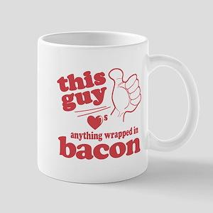 Guy Hearts Bacon Mug
