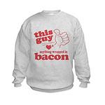 Guy Hearts Bacon Kids Sweatshirt