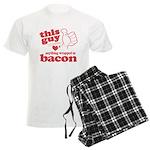 Guy Hearts Bacon Men's Light Pajamas