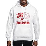 Guy Hearts Bacon Hooded Sweatshirt