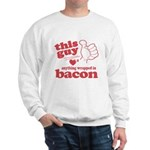 Guy Hearts Bacon Sweatshirt