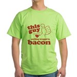 Guy Hearts Bacon Green T-Shirt