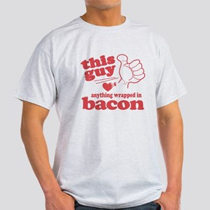 Guy Hearts Bacon Light T-Shirt