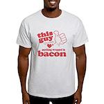 Guy Hearts Bacon Light T-Shirt