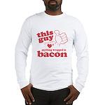 Guy Hearts Bacon Long Sleeve T-Shirt
