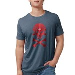 Lil' SpeedSkater Skully Mens Tri-blend T-Shirt