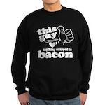 Guy Hearts Bacon Sweatshirt (dark)