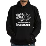 Guy Hearts Bacon Hoodie (dark)