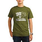 Guy Hearts Bacon Organic Men's T-Shirt (dark)