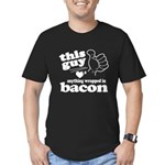 Guy Hearts Bacon Men's Fitted T-Shirt (dark)