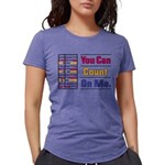 Count on Me Womens Tri-blend T-Shirt