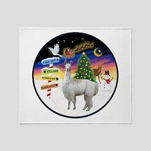 XmasSigns (R) - Llama Throw Blanket