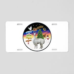 XmasSigns (R) - Llama Aluminum License Plate