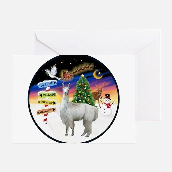 XmasSigns (R) - Llama Greeting Card