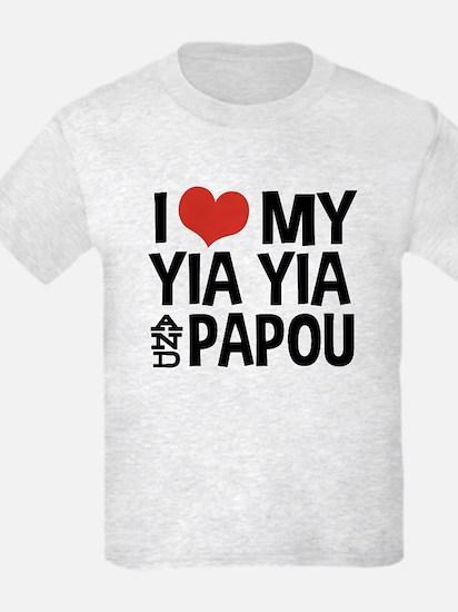 I Love My Yia Yia and Papou T-Shirt