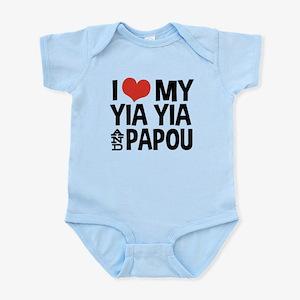 I Love My Yia Yia and Papou Infant Bodysuit