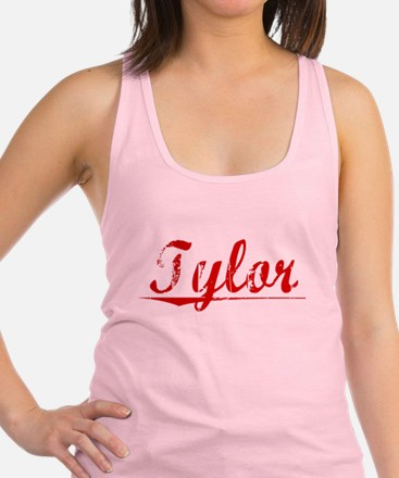 Tylor, Vintage Red Racerback Tank Top