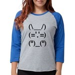 Text Bunny Womens Baseball Tee